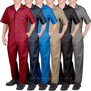 Dickies COVERALLS Mens Short Sleeve Coverall 339933999 Red Grey Navy Blue Khaki