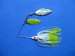 38 oz Spinner Bait WHITCHART TIP bass musky pike jig tackle lure lot T38Wpr213