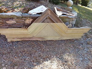 c1850-60 VICTORIAN style pediment PITTSBURGH PA hotel CHECKERED design 108x39