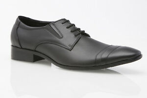 MENS AUSTRALIAN DESIGN BLACK BROWN LEATHER DRESS CASUAL WORK FORMAL MEN'S SHOES