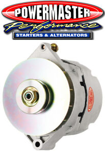 Powermaster 7288 GM 17SI 120 Amp Alternator w1V Pulley Natural Finish