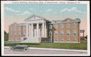 GETTYSBURG PA Academy Bldg Preparatory Dept Pennsylvania College Vtg Postcard PC $12.50