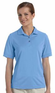 Ashworth Women's Polyester Short Sleeve Pique Sports Polo T-Shirt. 1290C