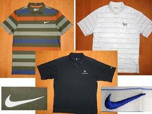 LOT of 3 NIKE GOLF DRI-FIT & SPHERE DRY SHORT SLEEVE POLO SHIRTS MEDIUM