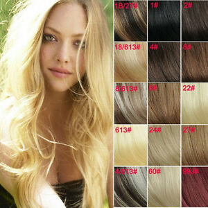 162024 100% Remy Human Hair Extension Real Hair 8pc 80G Many colors $84.00