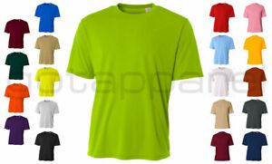 A4 Men's New Dri Fit Workout Running Cooling Performance T Shirt S 4XL. N3142 $10.30