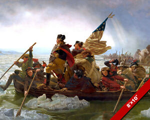 GEORGE WASHINGTON CROSSING THE DELAWARE 8X10 REAL CANVAS GICLEE PRINT