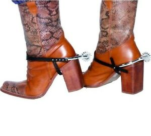Cowboy Fancy Dress Boot Spurs Pack of 2 Western Wild West New by Smiffys