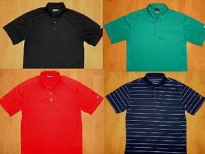 LOT of 4 NIKE GOLF FIT DRY FIT & SPHERE DRY POLO SHIRTS MENS MEDIUM