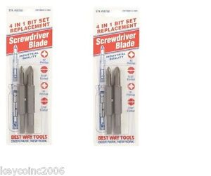 2 packs Best Way Tools Screwdriver Replacement Bit Phillips Slotted 4 $9.99
