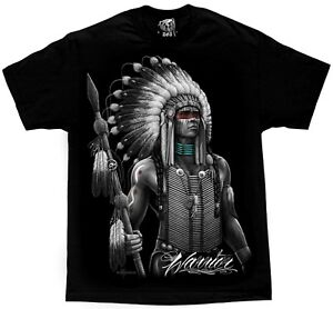 Warrior Native American Indian Chief Tribal Apache T Shirt DGA David Gonzales