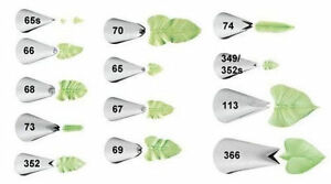 Wilton Leaf Decorating Tips Tip Assorted Cake Icing 65 65s 67 70 113 352 or 366 $1.89