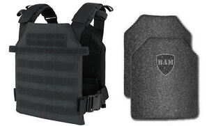Body Armor | Bullet Proof Vest | AR500 Steel Plates | Base Coating- BLK M-XXL