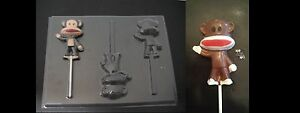 SOCK MONKEY Lollipop Chocolate Soap Candy Gummy Mold New