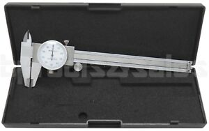6quot; DIAL CALIPER STAINLESS STEEL SHOCKPROOF .001quot; OF ONE INCH. $21.85