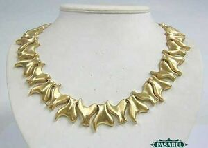 Superb 14k Yellow Gold Link Designer Necklace