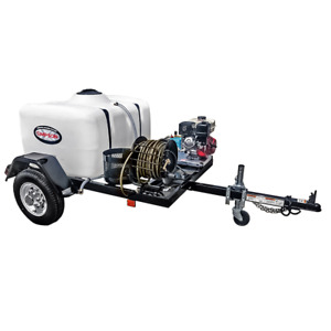 Simpson Professional 3800 PSI (Gas - Cold Water) Pressure Washer Trailer w H...
