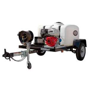 Simpson Professional 4200 PSI (Gas - Cold Water) Pressure Washer Trailer w H...