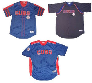 Chicago Cubs Baseball Replica Jersey Button Down Shirt Choose Style Sizes M - 2X