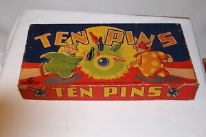 1940 s ten pins bowling game wooden concord