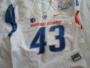 TJong-A-TJoe # 43 BOISE STATE BRONCOS NIKE PRO COMBAT GAME USED JERSEY !