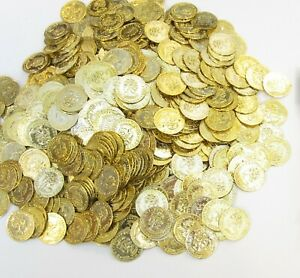 300 PLASTIC GOLD COINS PIRATE TREASURE CHEST PLAY MONEY BIRTHDAY PARTY FAVORS $12.95