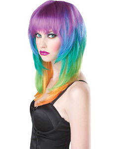 Morris Costumes Women's Rainbow Multicolor Kaleidoscope Wig One Size. CC70017
