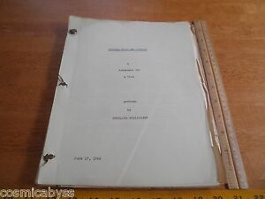 1966 Between Hello and Goodbye Stirling Silliphant script treatment ORIGINAL