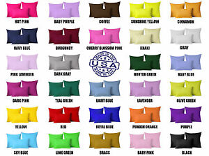 Solid Color Square Home Sofa Decor Pillow Cover Case Cushion Cover 12 18 24 26 $8.79