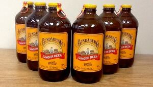 Bundaberg Ginger Beer Six pack Old Fashioned Glass Bottle Soda Pop
