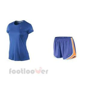 Nike Women's Running Dri Fit Technical Shirt + Shorts 716453 530 + 519829 480