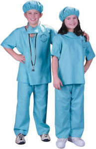 Morris Costumes Kids Unisex Doctor Scrub Pants Shirt Cap And Mask M. FW9733MD