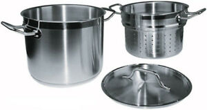Winware by Winco Stainless Steamer Pasta Cooker with Cover