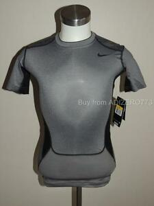 Nike Pro Combat Hypercool Compression Shirt Dry Fit Stay Cool GreyBlack Men M