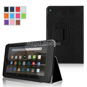 Folio PU Leather Cover Stand Case For Amazon 2015 2017 2019 Kindle Fire 7 7inch $5.98