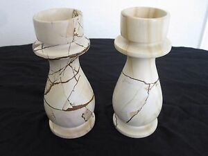 Marble Candle Holder Set - 2 Pieces