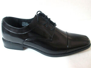 Giorgio Venture 6215 LEATHER MAN DRESS SHOE Black London Cap Toe-Italian Design
