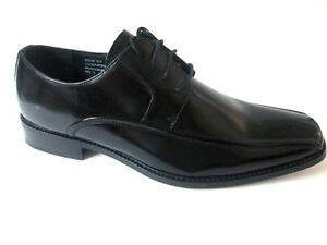 Giorgio Venture 6214 LEATHER MEN DRESS SHOE Black Oxfords Lace-Up Italien Design