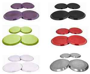 Set of 4 Hob Cover Set Stainless Steel Hob Cover Electric Cooker Hob Protector GBP 9.99