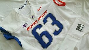 SHEFFIELD 2011 BOISE STATE BRONCOS NIKE PRO COMBAT GAME USED JERSEY !