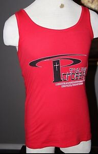 NEW Mens Red True Power Christian Crossfit Gym Dallas TX Workout Shirt Tank L
