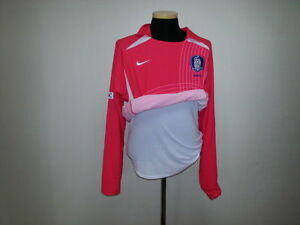 KOREA SHIRT JERSEY FOOTBALL LONG SLEEVE PLAYER ISSUE MATCH PREPARED BNWT CODE 7