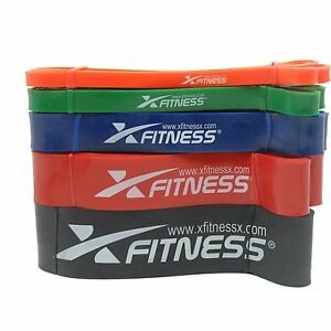 xFitness Pull Up Assist & Resistance Band - 5 Levels - Extra Durable Heavy Duty