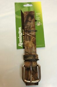 Remington Leather Camo Belt Adjustable Size From 32quot; 39quot; New Realtree AP New