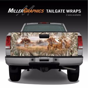 Whitetail Buck Deer Camo quot;Obliterationquot; Truck Tailgate Vinyl Graphic Decal Wrap