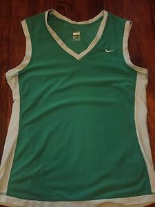 Nike FIT DRY Women's Green Shirt Tank Top Size Large 12-14