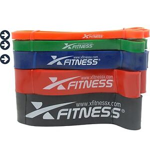 xFitness Pull Up Assist Resistance Bands For CrossFit - #1 #2 #3 Set 10-80 lbs