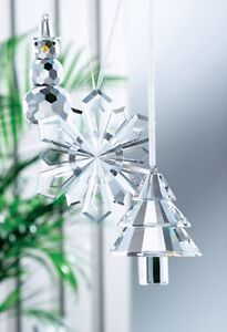 Galway Crystal Hanging Crystal Ornament 3 Pack