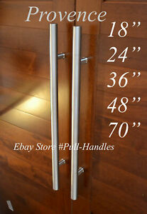 One Sided Modern Interior Exterior Long Door Push Pull Handle Stainless Steel $95.00