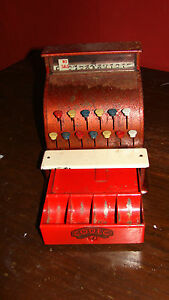 codeg metal tin toy cash register till pre decimal